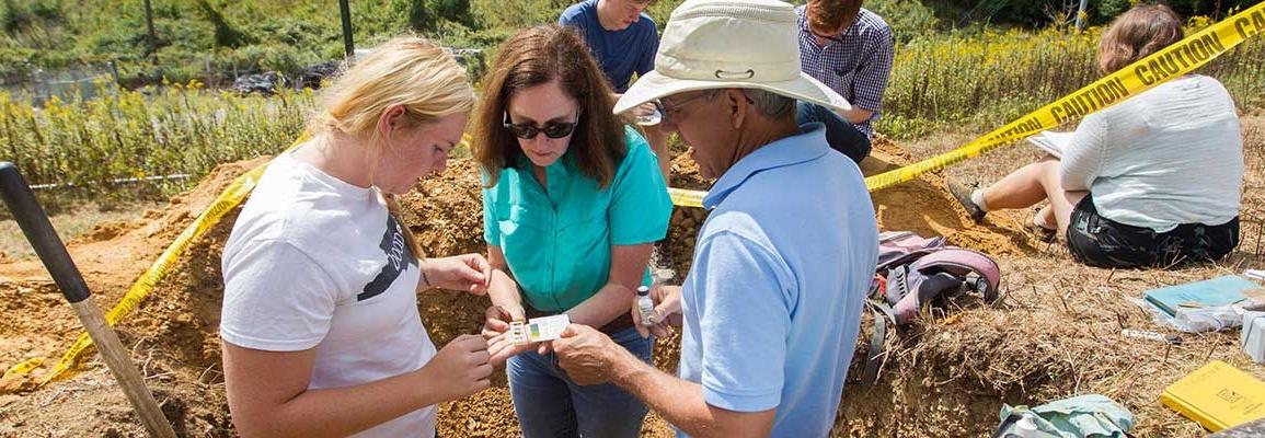 Dr. Ellen Cowan at fieldwork site